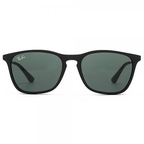 Ray-Ban Junior Keyhole Square Sunglasses In Black Rubber Green