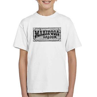 Mariposa Saloon Sweetwater Westworld Black Kid's T-Shirt