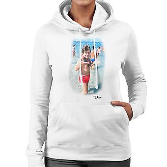 Ozzy Osbourne On The Beach Women's Hooded Sweatshirt