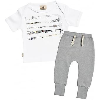 Spoilt Rotten Sketch Print Baby T-Shirt & Joggers Outfit Set