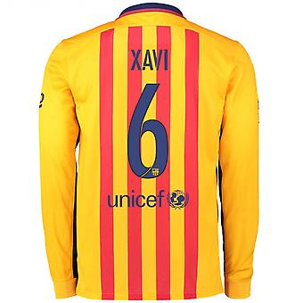 2015-2016 Barcelona Long Sleeve Away Shirt (Xavi)