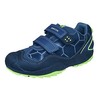 Geox J N Savage B.B Boys Trainers / Shoes - Navy and Black