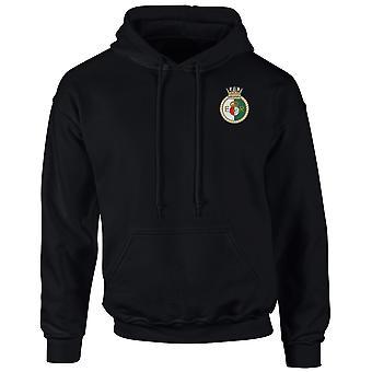 HMS Queen Elizabeth Embroidered logo - Official Royal Navy Hoodie Hooded Sweatshirt