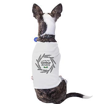 وأنا أفضل عيد الميلاد الديكور لطيف الرسم قميص الحيوانات الأليفة الكلاب الصغيرة