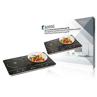 König Slim-line double induction plate touch control 3 500 W