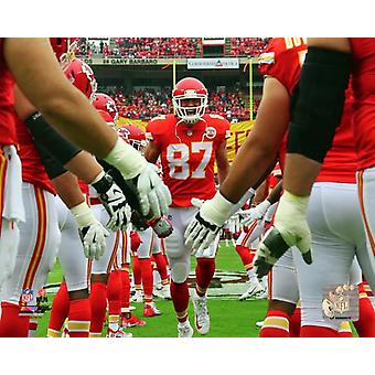 Travis Kelce 2017 Action Photo Print
