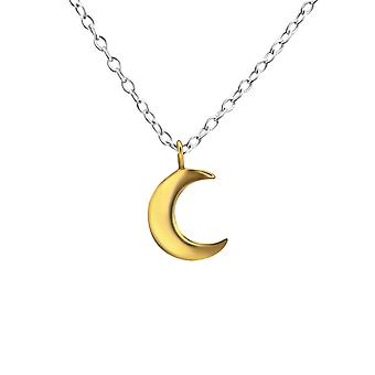 Crescent Moon - 925 Sterling Silver Plain Necklaces