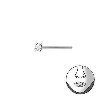 1.5mm Square Bend To Fit Nose Studs - 925 Sterling Silver Nose Studs - W34798x