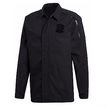 2018-2019 España Adidas ZNE tejido chaqueta himno (negro)
