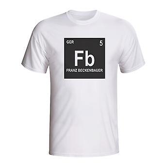 Franz Beckenbauer Niemcy okresowy T-shirt (biały)