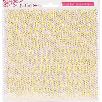 Freckled Fawn Puffy Stickers-Yellow Script PSSCRPTY