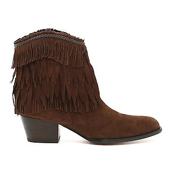 Aquazzura women's POCMIDB0SUNCHO brown suede ankle boots