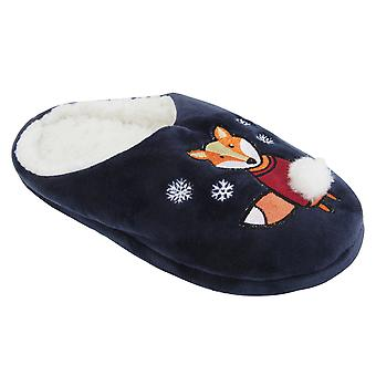Donna/Womens natale disegno animale mulo Pantofole
