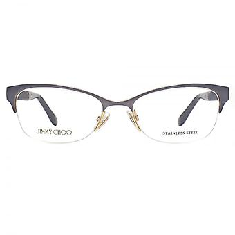Jimmy Choo JC106 Glasses In Black Gold Glitter