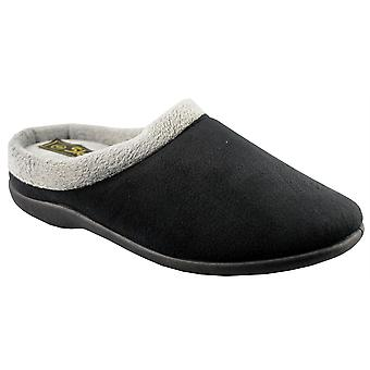 Ladies Womens Boxed Memory Foam Padded Extra Comfort Mule Slippers Shoes