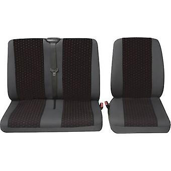 Petex Universal car seat cover set Red, Anthracite