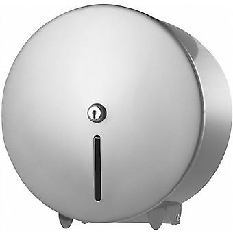 Mini Jumbo Toilet Roll Dispenser | Classic Design | Stunning Silver Finish | Pro-range
