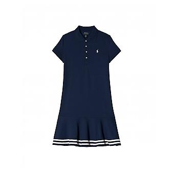 Polo Ralph Lauren Childrenswear Striped Trim Polo Dress