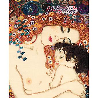 Motherly Love/G. Klimt's Painting Counted Cross Stitch Kit-11.75
