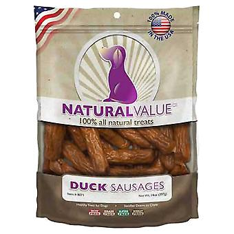 Natural Value Treats 14oz-Duck Sausages