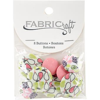 Fabricraft - Fabric Covered Buttons 8/Pkg-Pears
