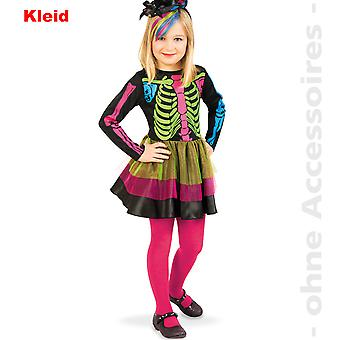 Skeleton costume skeleton gown stained kids costume day of the dead child Halloween costume
