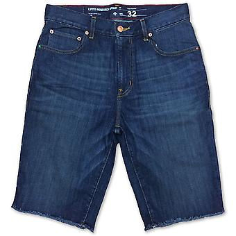 LRG RC TS Raw Edge Denim Short Vintage Wash