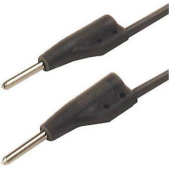SKS Hirschmann MVL 2/50 sw Test lead [2 mm plug - 2 mm plug] 0.5 m Black