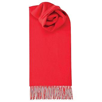 Johnstons of Elgin Lambswool Plain Scarf - Bright Red