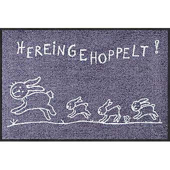 Salone del leone zerbino Hereingehoppelt 50 x 75 cm. lavabile sporcizia stuoia