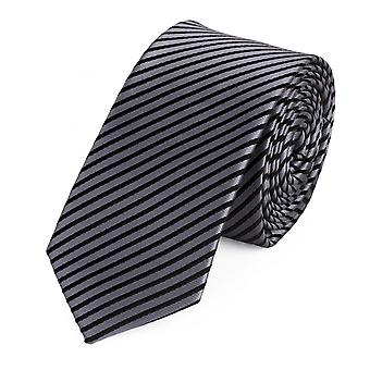 Tie slips slips slips 6cm sølv grå svart stripete Fabio Farini
