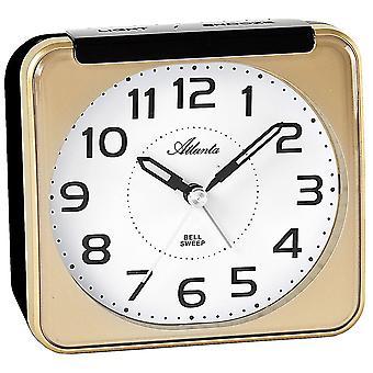 Herätys kello kvartsi analoginen kultainen hiljainen ilman tikittää valoa Torkku