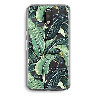 Motorola Moto G4/G4 Plus Transparent Case - Banana leaves