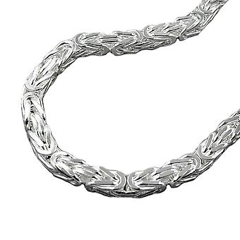 Necklace square glossy Silver 925 6 mm King chain 55 cm