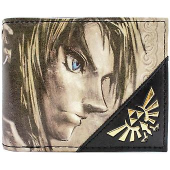 Nintendo Legend of Zelda Twilight Link Gold ID & Card BiFold Wallet