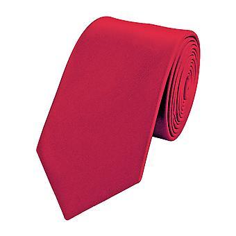 Schlips Krawatte Krawatten Binder 6cm rot einfarbig Fabio Farini