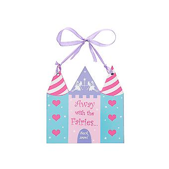Fairy castle wooden hanging sign