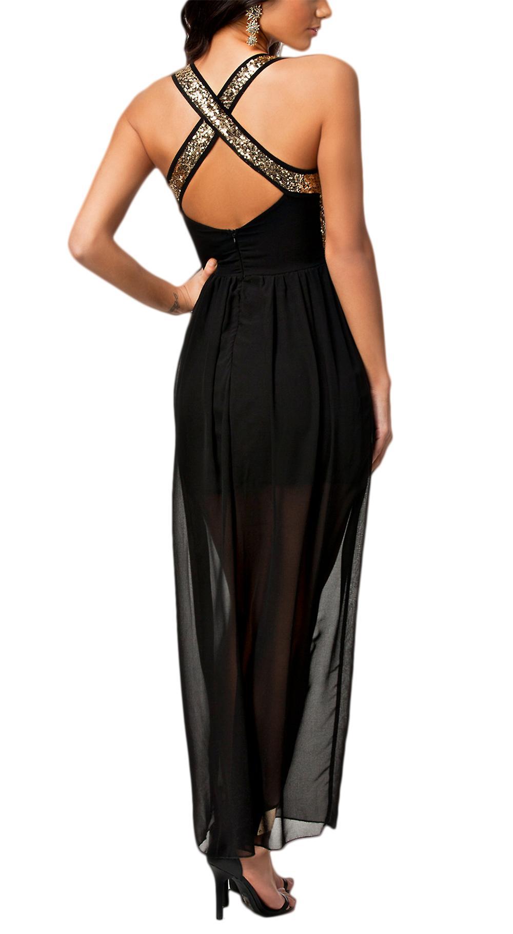 Waooh - kjole med skulder stropper har paljetter Curuid
