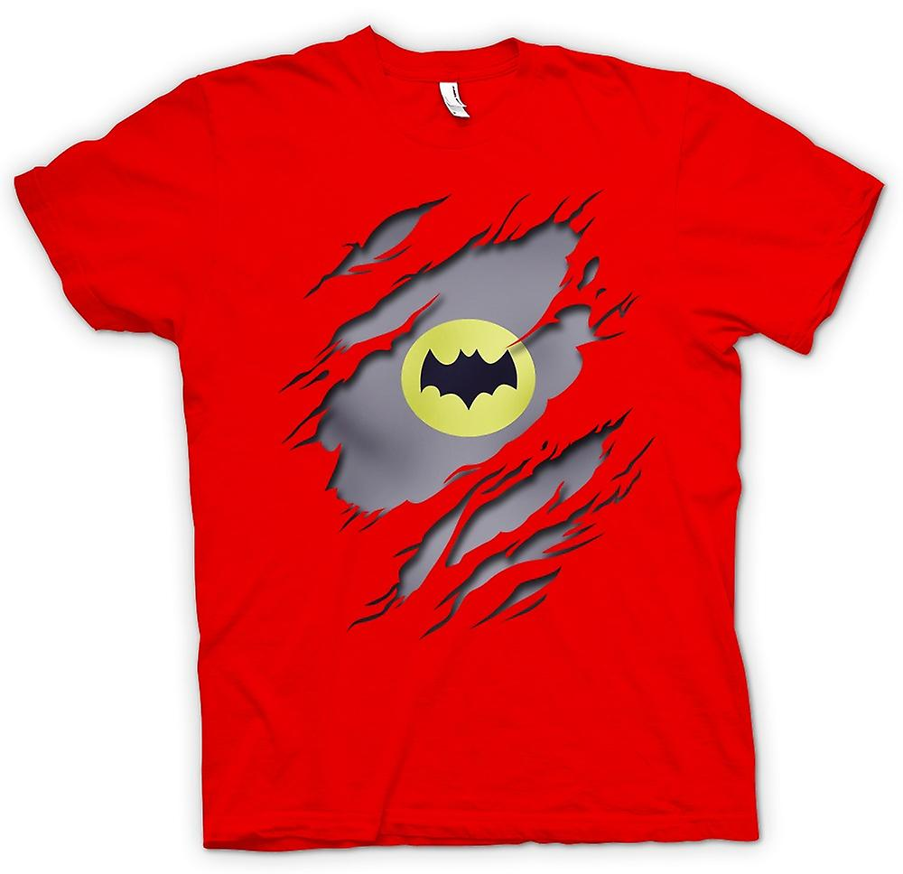 Mens T-shirt - Batman unter Shirt Effekt - Film Superhero