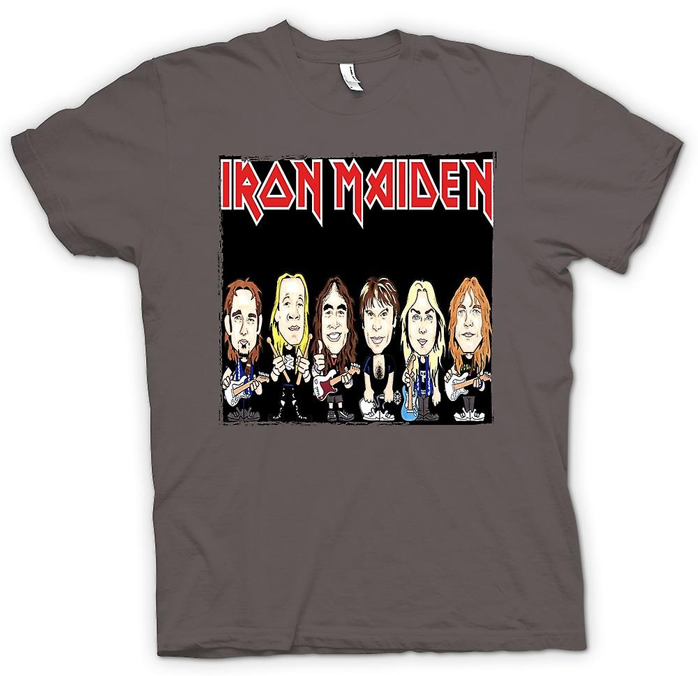 Camiseta para hombre - Iron Maiden - Cartoon Band