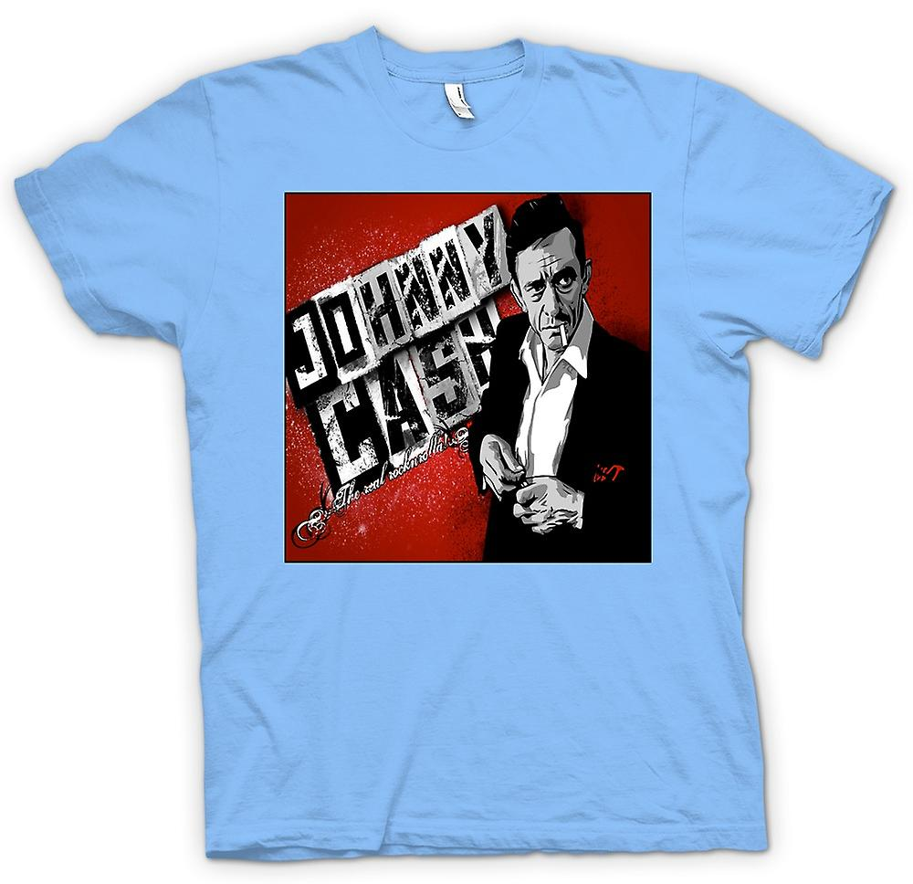 Mens T-shirt - Johnny Cash - Real Rock n Roll
