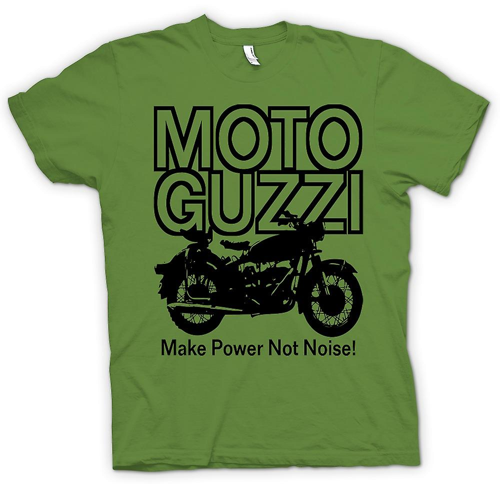 Mens t-shirt - Moto Guzzi marca Power non è rumore