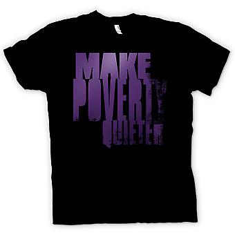 Kids T-shirt - Make Poverty Quieter - Brilliant Funny