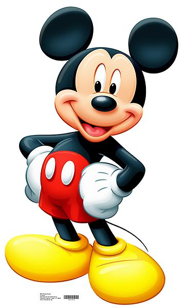 Mickey Mouse (Disney) - Levensgrote Kartonnen Uitsnede / Standee