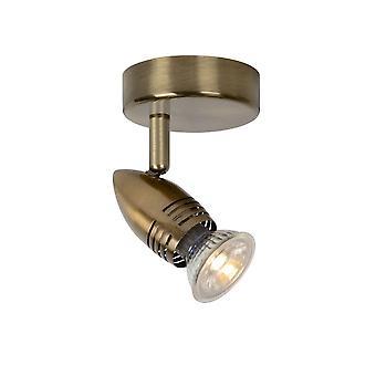 Lucide Caro-LED moderna runda metall brons vägg plats ljus