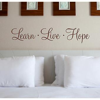 Hope wall decal sticker quote