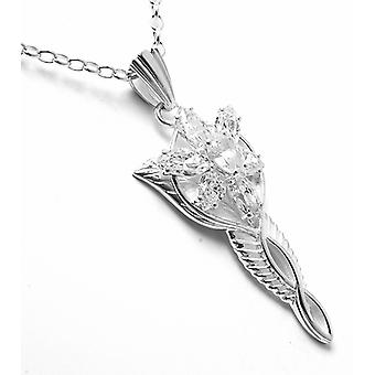 Lord Of The Rings Arwen Evenstar Silver Pendant Necklace