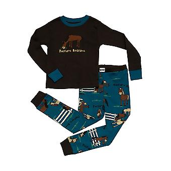 LazyOne Childrens/Kids Pasture Bedtime Long Sleeved Pyjama Set
