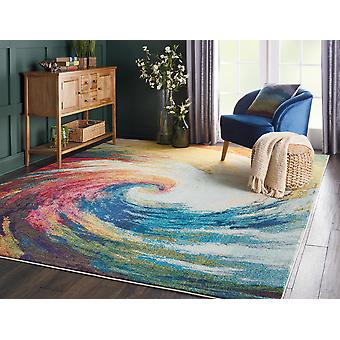 Celestial 07 Wave  Rectangle Rugs Funky Rugs