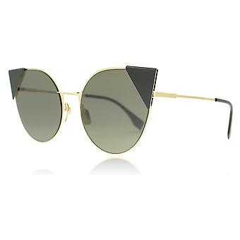 Fendi 0190/S 0002M Rose Gold FF0190/S Round Sunglasses Lens Category 3 Size 57mm